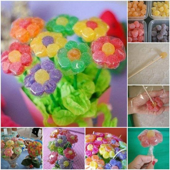 Gummy Candy Flowers