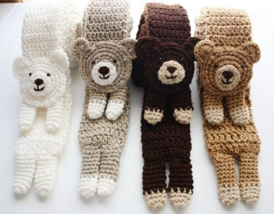 Crochet Bear Scarf Pattern
