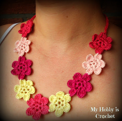 Crochet Flower Necklace Free Pattern
