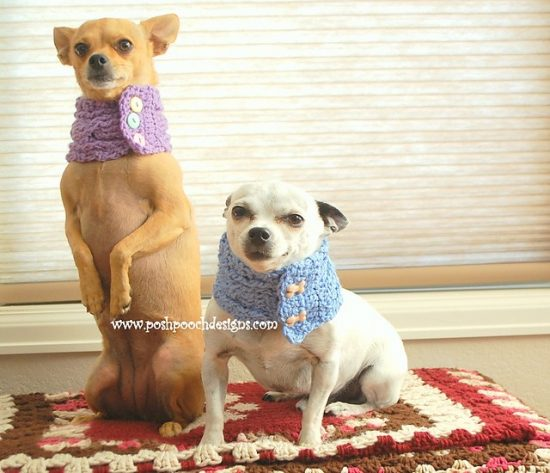 Dog Cowl with Cable Stitch FREE Crochet Pattern