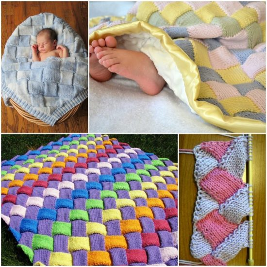 Knitted Entrelac Blanket Free Pattern