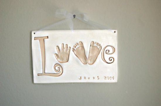 Love Clay Sign