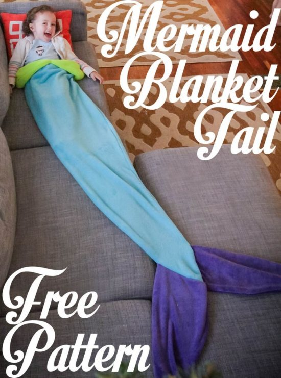 Mermaid Blanket Tail Free Pattern