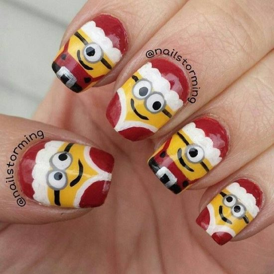Christmas Minion Nail Art Ideas Youll Love Video Tutorial