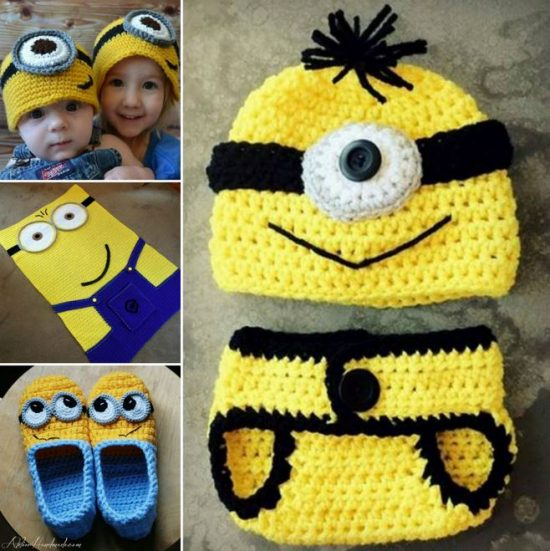 Minion Crochet Ideas - find lots of free patterns on our site.