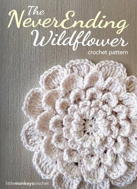 Never Ending Wild Flower Free Crochet Pattern