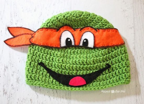 Ninja Turtle Hat Crochet Pattern for Free ⋆ Crochet Kingdom | 396x550