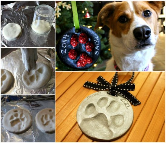 Paw Print Christmas Tree Ornament