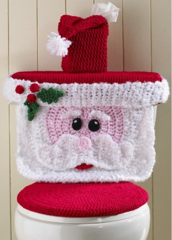 Santa Toilet Cover Crochet Pattern