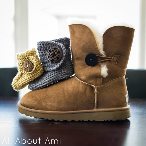 Baby Button Boots Free Crochet Pattern