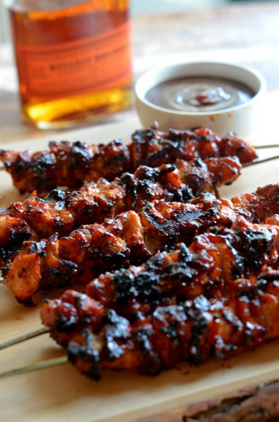 Chicken Bacon Bourbon Kebabs