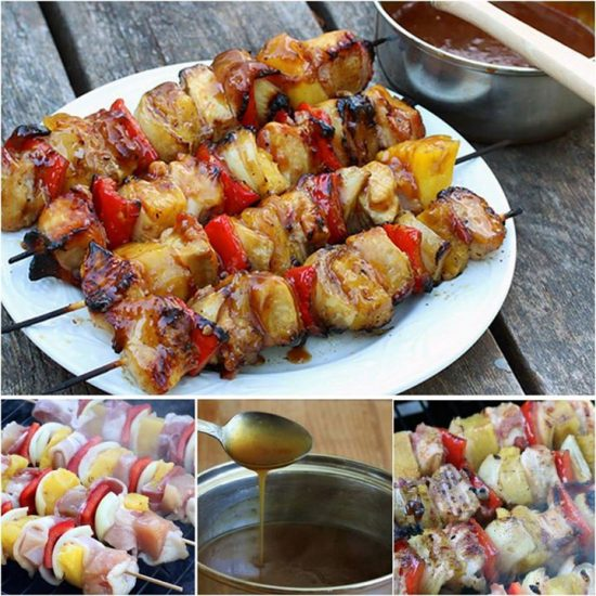 Bacon Chicken Pineapple Kebabs Recipe