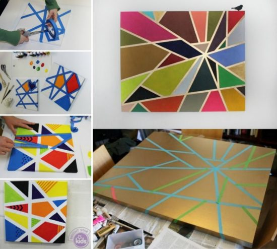 paint craft ideas diy geometric painting with ideas the whoot 2593