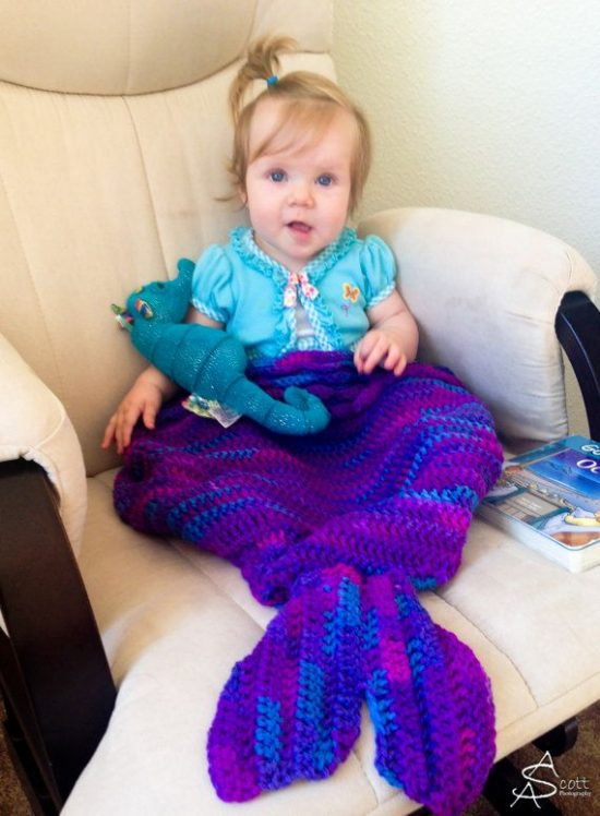 Mermaid Crochet Blanket