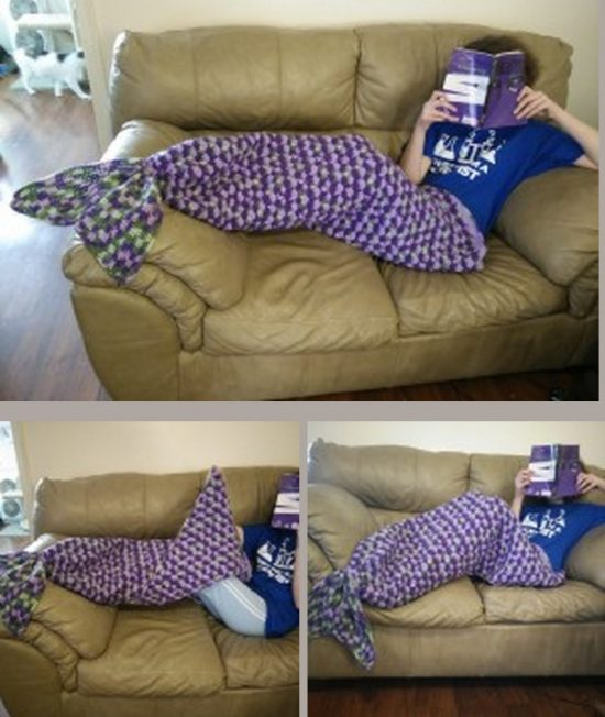 Mermaid Lapghan Crochet Blanket Free Pattern