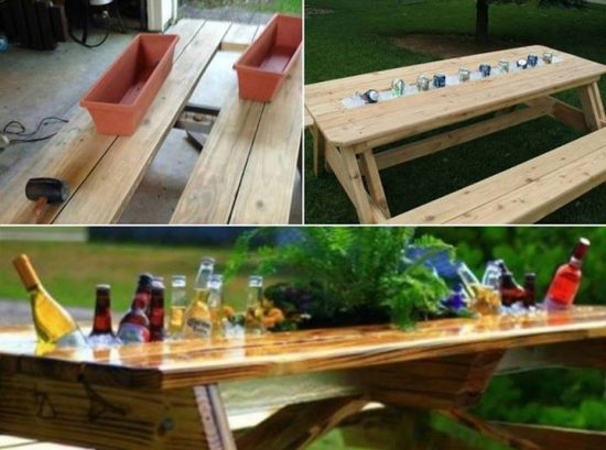 Beer and Wine Cooler Table thumb