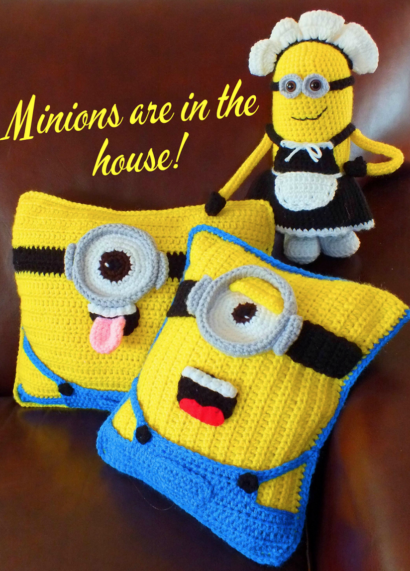 crochet minion pillow free pattern