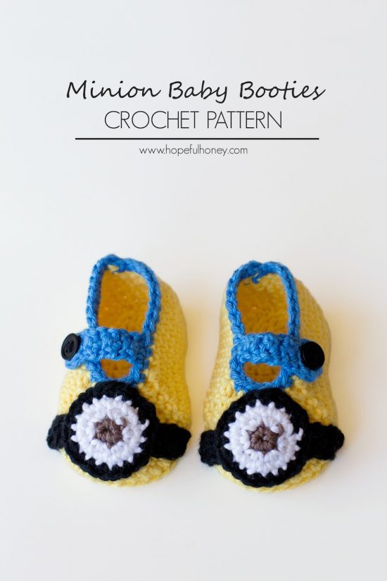 Minion Inspired Baby Booties Free Crochet Pattern