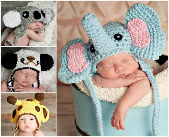 Animal Crochet Hats