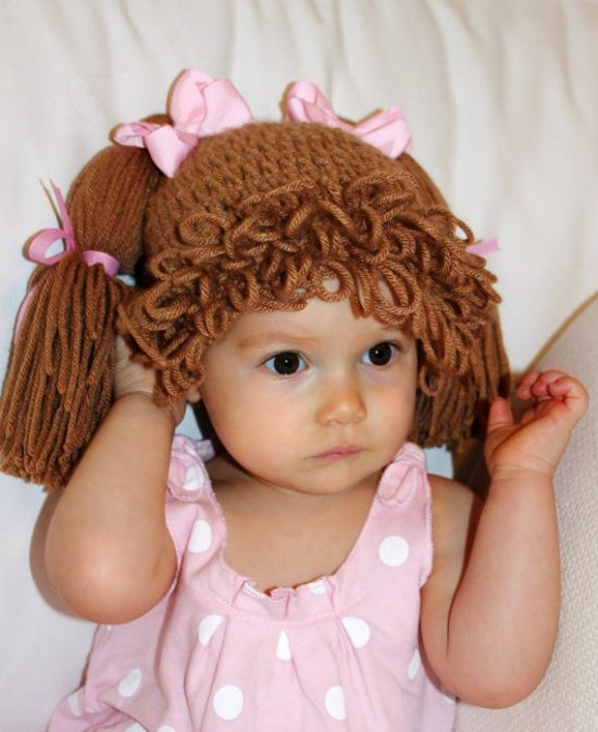 Cabbage Patch Crochet Beanie Hat