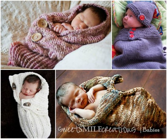 Knitted Baby Cocoons Free Pattern