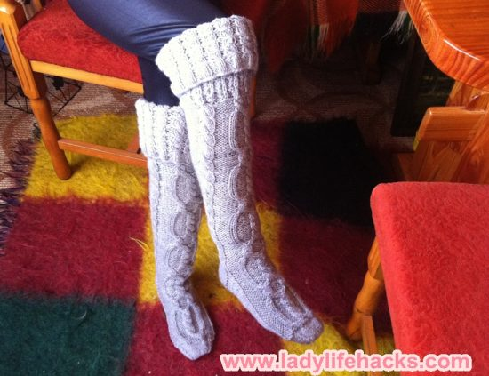 Knit Knee High Socks Pattern Images Knitting Patterns Free Download