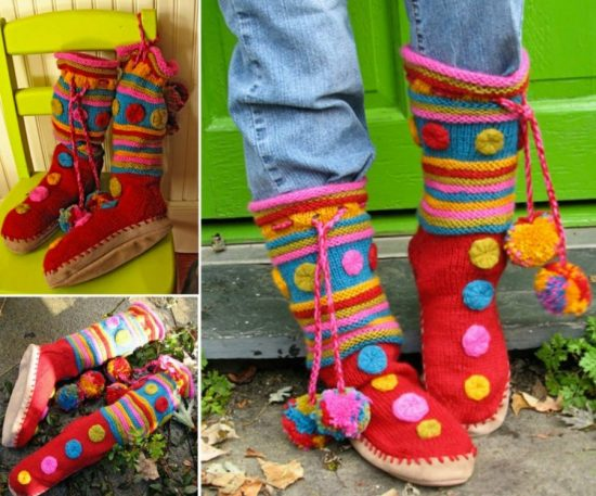 Knitted Slipper Boots Pattern Is Free And Easy The Whoot