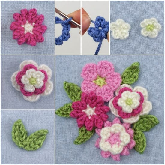 Crochet Posy of Flowers Free Pattern