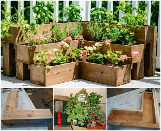 Great DIY Tiered Herb Garden