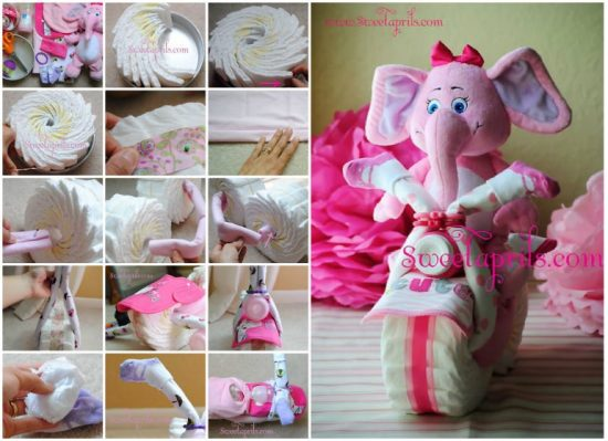 Instructions On How To Make A Baby Carriage Diaper Cake