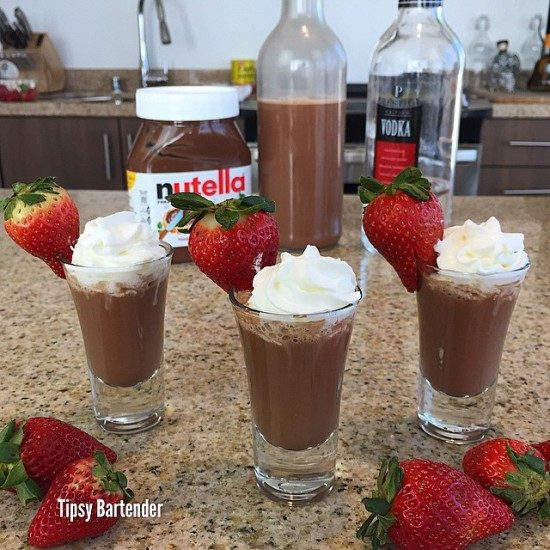 Nutella Vodka Shots