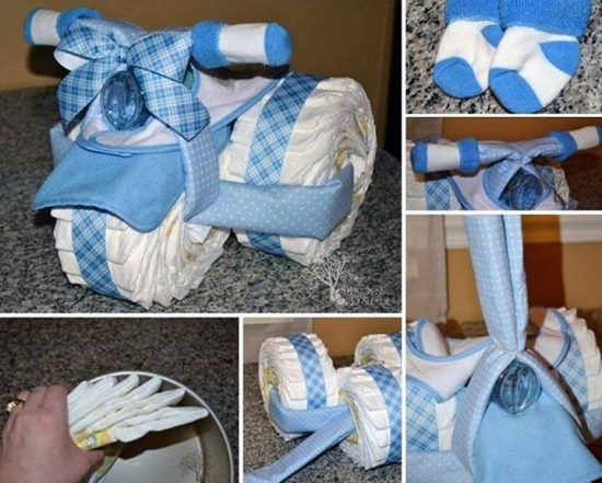 Tricycle Diaper Cake Instructions Easy Video Tutorial