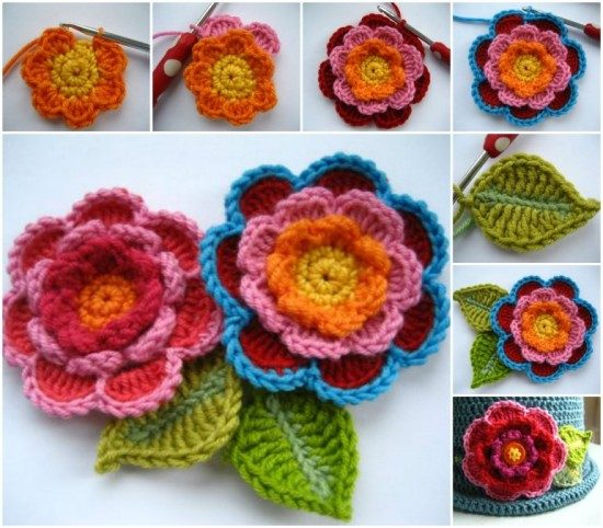 How To Make Absolutely Gorgeous 3d Crochet Roses The Whoot