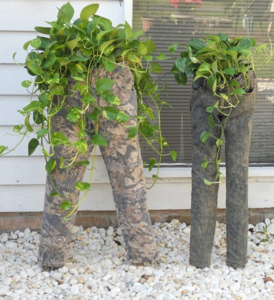 Camo and Jeans Planters