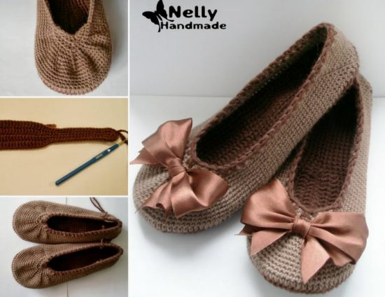 Ballerina Crochet Slippers Free Patterns The Whoot