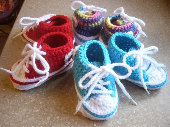 Crochet Converse Baby Booties Free Pattern