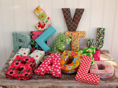 Fabric Letter Pillows