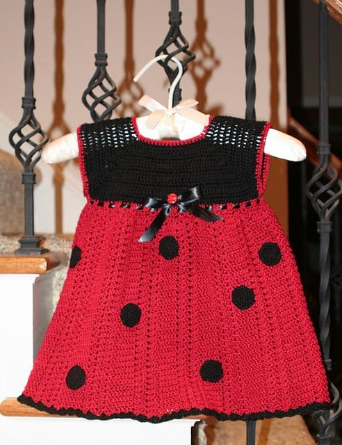 Ladybug Crochet Dress Free Pattern