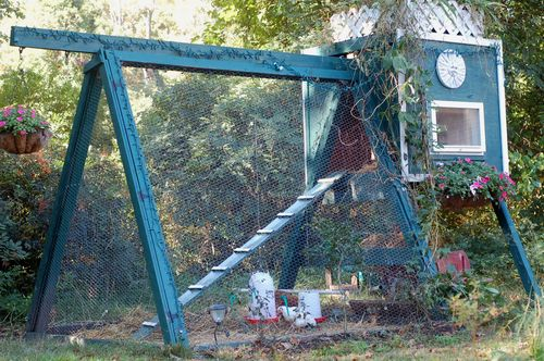 Swing Set Chicken Coop