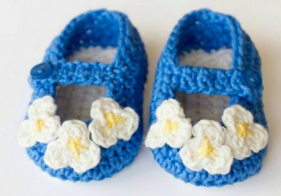 Vintage Daisy Mary Jane Slippers FREE Crochet Patterns