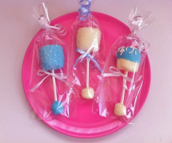 Baby Marshmallow Rattle Pops Baby Shower Idea