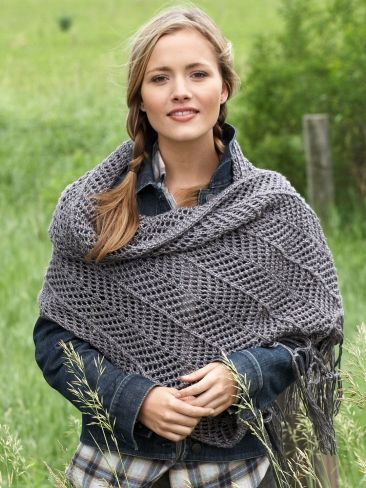 Chevron Shawl Free Crochet Pattern