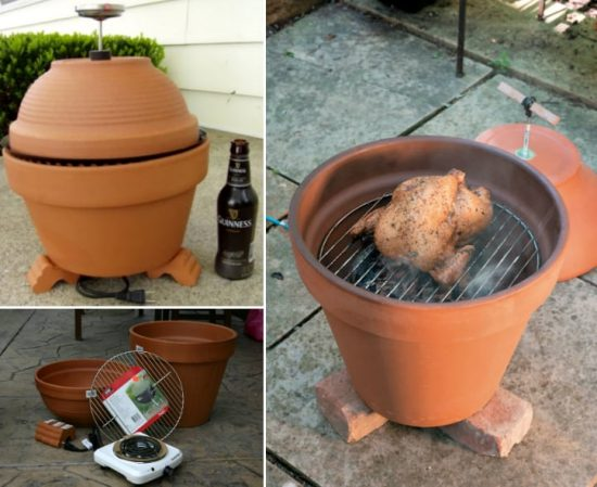 Clay Pot Smoker