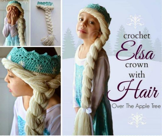 Elsa Hat Crochet Braid Free Pattern