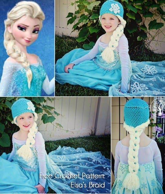 Elsa Crochet Hat and Braid Free Pattern