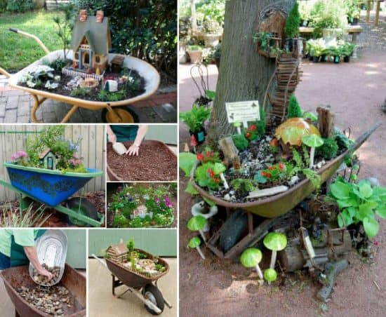 Fairy Garden Wheelbarrow