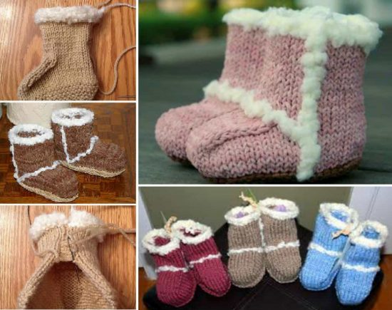 Knitted Baby Ugg Booties Free Pattern