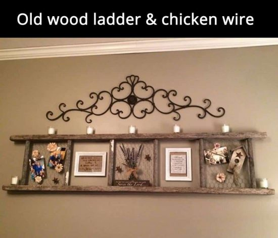 Ladder and Chicken Wire