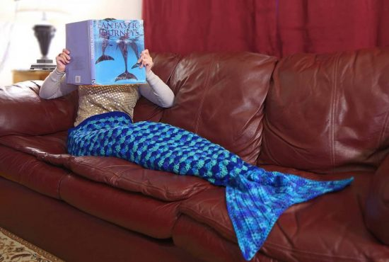 Mermaid Tail Afghan FREE Crochet Pattern