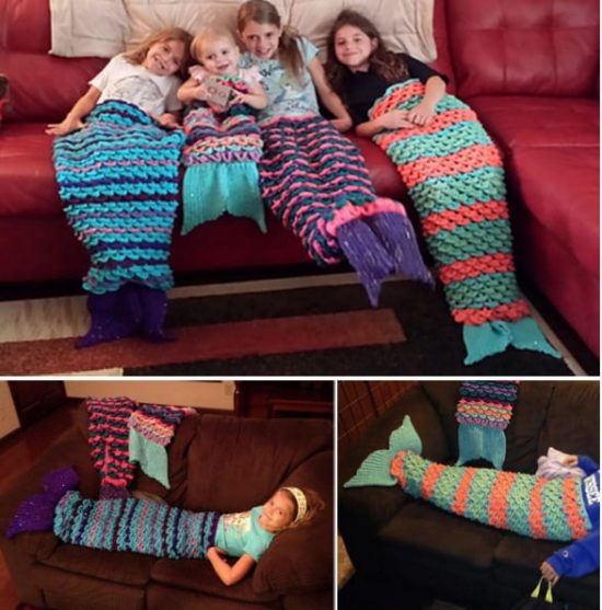 Mermaid Tail Crochet Blankets Free Patterns